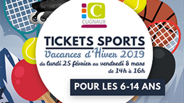 Ticket sports hiver 2019